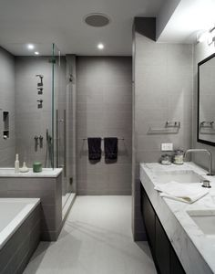 Duane Street Duplex   Contemporary   Bathroom   New York   WUNDERground.  White And Grey Bathroom