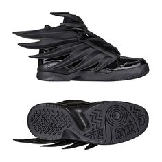 ADIDAS JS WINGS 3.0 Batman Sneakers Jeremy Scott 6.5 40 BLACK Dark Knight D66468