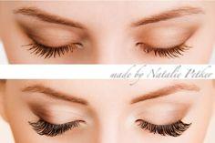 vorher/nacher- Wimpernextensions- Eyelashes