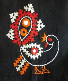 Handmade Embroidery Designs, Peacock Embroidery Designs, Bead Embroidery Tutorial, Embroidery Flowers Pattern, Hand Embroidery Dress, Hand Embroidery Videos, Hand Embroidery Stitches, Embroidery Techniques, Rag Rug Diy