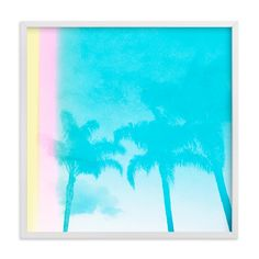 """""""Water Palms"""" - Limited Edition Art Print by Kamala Nahas in beautiful frame options and a variety of sizes. Art Wall Kids, Home Wall Art, Art For Kids, Mint Water, Whole Image, Light Leak, Water Reflections, Art Store, Kids Decor"""
