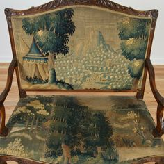 Regence style settee with Flemish tapestry seating