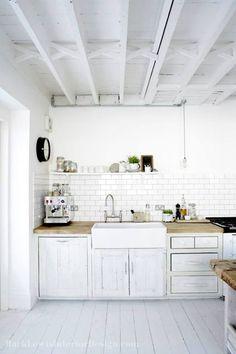 white kitchen | B L O O D A N D C H A M P A G N E