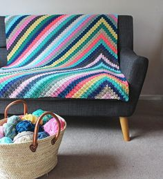 crochet blanket Havana Nights Blanket Crochet pattern by Rosina Northcott - Bring the colours of Cuban parties to your home with this spectacular blanket. This pattern includes full colour chart, written instructions, useful photos for colour changes Crochet Afghans, Motifs Afghans, Crochet Blankets, C2c Crochet Blanket, Crochet Quilt, Baby Afghans, Tunisian Crochet, Crochet Granny, Crochet Square Patterns