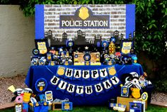 POLICE Party Police Backdrop Policeman by KROWNKREATIONS on Etsy