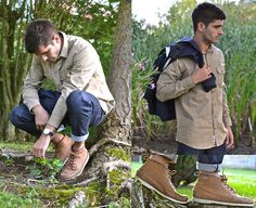 Norse Projects Villads Over Shirt, A.P.C. Rescue Custom Jeans, Norse Projects Norse X Elka Raincoat, Sebago Dockside Boots
