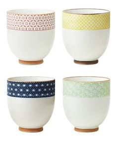 Another great find on #zulily! Sashiko Tea Cup - Set of Four #zulilyfinds