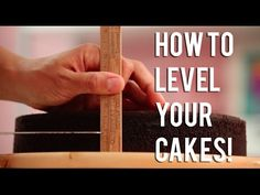 How To LEVEL YOUR CAKE LIKE A PRO! Yolanda's levelling and layering tutorial! - YouTube