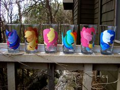 My Little Ponies Friendship is Magic Shotglasses