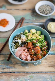 Salmon poke that is
