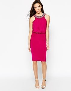 Binky for Lipstick Boutique Queensway Embellished Halter Dress