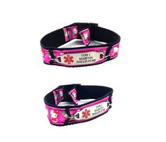 #77 Hello Kitty in Pink Adjustable Medical ID Sports Band 1 - Medical ID Store