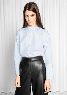 & Other Stories image 2 of Pleated Collar Blouse  in White