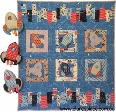 New Pattern... Blast Off by Clares Place using Rocket Age - Riley Blake Designs Fabric