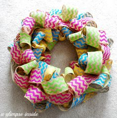 Spring Chevron Wreath Tutorial
