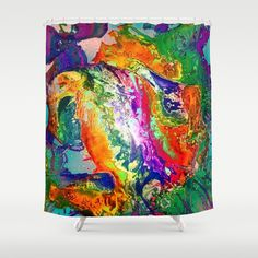 Action, Abstract Shower Curtain
