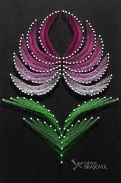 templates for Nail String ART Nail String Art, String Crafts, Resin Crafts, Art Lotus, Arte Linear, Embroidery Cards, Flower Embroidery, Embroidered Flowers, Embroidery Stitches