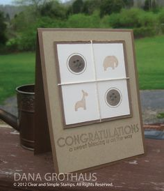 """Neutral Baby Congratulations"" card by @DanaGrothaus"