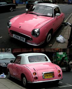 Nissan Figaro - wanted one since I saw one on the streets of Tokyo 20 years ago, probably not in pink though