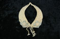 Vintage 1950's Hand Made Pearl & Silver Beaded Fashion Collar Necklace