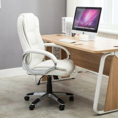 The size and look of this executive office chair makes it ideal for any conference room or office seating. It has a nicely padded, bicast leather seat, back, and armrests with top stitching. The base and arms supports are an attractive contrast to the finish and come with tilt/lock and height control. Andover Mills® purchase products directly from the manufacturer, so you know you are getting the best price. Offering a versatile range of motion, the executive chair swivels 360 degrees fo...