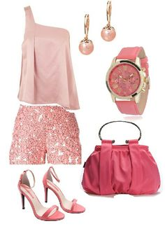 Beautiful pink outfit for summer time