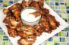 Low Carb Crispy Garlic Parmesan Wings. The best fried chicken I have ever had and so easy to make with my Tfal ActiFry.
