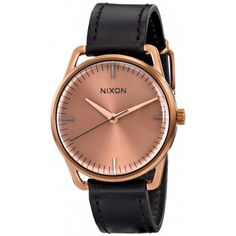Nixon The Mellor Rose Gold Watch Brand new, never worn! A Minimally styled round watch offers classic style on a fine Horween leather strap. *Last photo for size reference.  38mm case; 20mm band width. Buckle closure. Three-hand quartz movement. Stainless steel/Horween leather. Nixon Accessories Watches