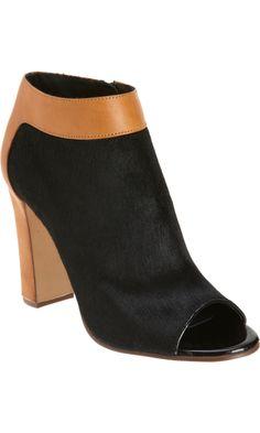 Chloé Ponyhair Peep Toe Ankle Boot