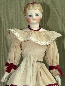 Beautiful Simon & Halbig Molded Hair Fashion Parian Beauty from BUNNY'S BABIES on Doll Shops United http://www.dollshopsunited.com/stores/BunnysBabies/items/1289452/Beautiful-Simon-Halbig-Molded-Hair-Fashion-Parian #dollshopsunited #antique #doll