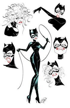Batman And Catwoman, Batman Art, Batgirl, Supergirl, Gotham Batman, Batman Robin, Costume Catwoman, Comic Books Art, Comic Art