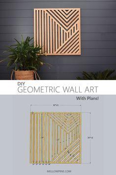 Diy Wall Art, Diy Wall Decor, Wood Wall Art, Diy Home Decor, Wood On Walls, Wood Interior Walls, Wooden Wall Decor, Diy Furniture Plans Wood Projects, Diy Projects