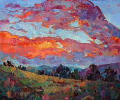 Sky Painting - Sunset View by Erin Hanson
