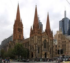 Opposite Federation Square, on Melbourne's busiest intersection, the neo-Gothic St Paul's Cathedral is a Melbourne landmark, built between 1880 and Melbourne Museum, Melbourne Zoo, Visit Melbourne, Melbourne Victoria, Melbourne Australia, Vic Australia, Victoria Australia, Religion In Australia, Anglican Cathedral