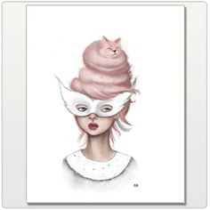 A Satisfied Ms. Kitty Print 8x10 by CarolRoque on Etsy, $12.00
