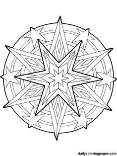 Free Printable Mandala Coloring Pages | mandala christmas ornaments coloring pages 017
