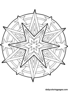 Free Printable Mandala Coloring Pages | mandala christmas ornaments coloring pages 017