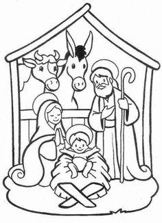Imagenes para colorear navidad nacimiento