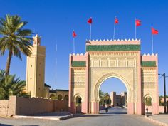 Entrance Gate to the Desert Town of Rissani, Morocco, North Africa, Africa Photographic Print by Michael Runkel at Art.com