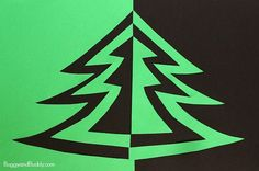 Combine art and math with this symmetry Christmas tree art project for kids. All you need to get started is some paper, scissors, and glue! Follow our Christmas for Kids Pinterest board!     My students always loved making these symmetry jack-o-lanterns each fall, so I thought we'd use the same technique to create Christmas trees! …
