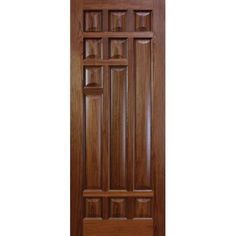 Simply stunning walnut door with raised and fielded panels, unique in design and supplied fully finished Main Entrance Door Design, Wooden Front Door Design, Double Door Design, Wooden Front Doors, Flush Door Design, Room Door Design, Door Design Interior, Door Design Images, Walnut Doors