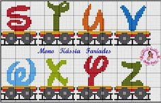 Alphabet train, upper case, S-Z
