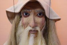 marionette White Wizard marioneta puppet ooak artdoll títere