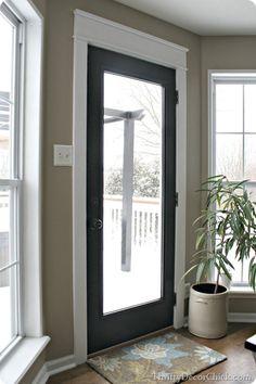 My new black door with white #Craftsman trim.
