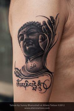 Gautam Buddha Tattoo, Designed and Inked by Sunny at Aliens Tattoo, Mumbai.