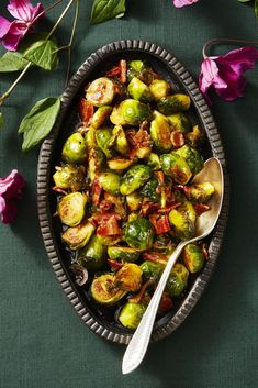 Maple-Glazed Brussels Sproutsgoodhousemag