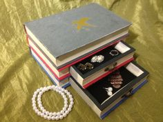 Hunger Games Book Jewelry Box Upcycled recycled by WreckedWritings, $40.00