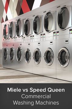 Commercial washing machines must be able to handle the rigors of constant use—and two of the most popular brands which manufacture these units are Miele and Speed Queen. Washing Machine Reviews, Washing Machines, Laundry Decor, Laundry Room Design, Laundry Appliances, Home Appliances, Best Washer Dryer, Commercial Electric, Wash Tubs
