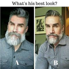 What's his best look - A or B? via @grizzlyadamuk