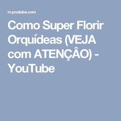 Como Super Florir Orquídeas (VEJA com ATENÇÂO) - YouTube